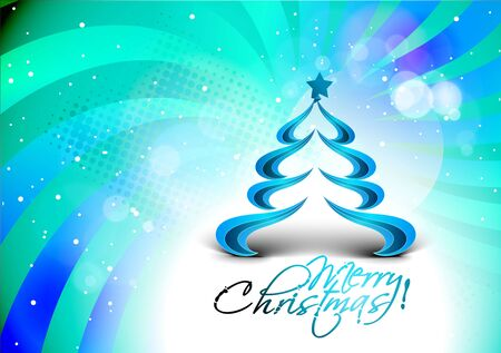 abstract christmas tree background design, vector illustration  Vector