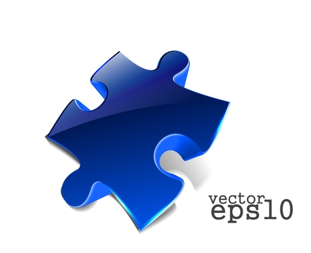 vector 3d glossy puzzle web icon design element.  Stock Vector - 11580041