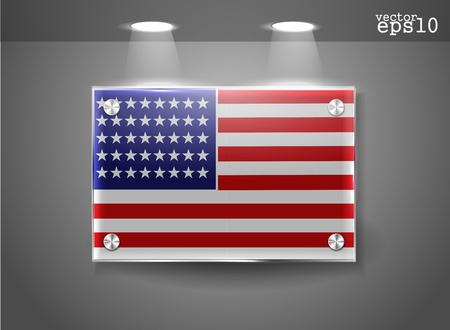 Illustration of the USA flag  Vector