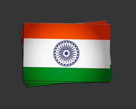 india flag design with Event Original, vector illustration  Stock Vector - 12125640