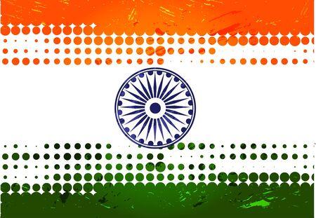 verkiezingen: india vlag ontwerp met Event Original, vector illustratie Stock Illustratie