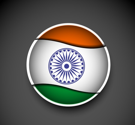 tag of india flag design, vector illustration  Vector