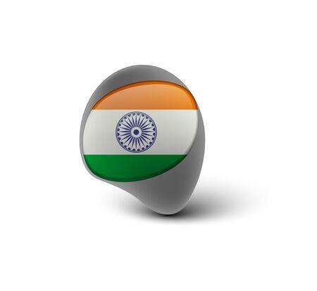 icon of india flag design, vector illustration  Vector