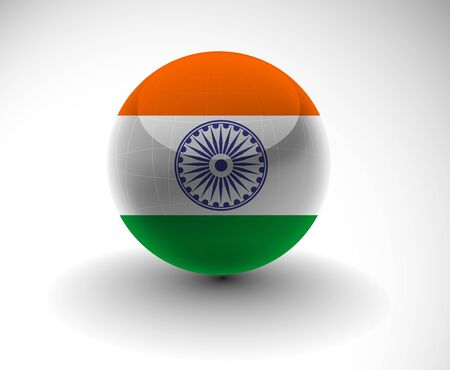 icon of india flag design, vector illustration Stock Vector - 12125636