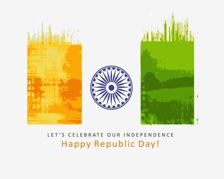india flag design with Event Original, vector illustration  Vector