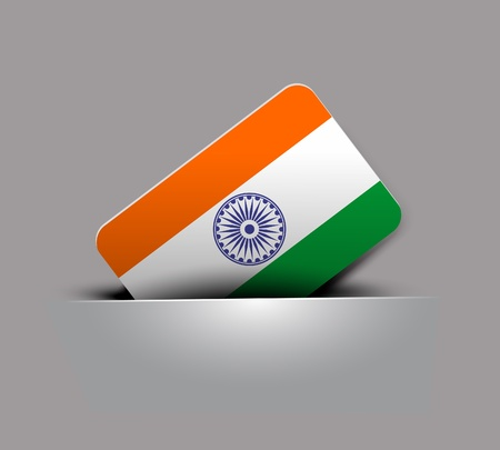 India flag tag with Event Original, vector illustration  Vector