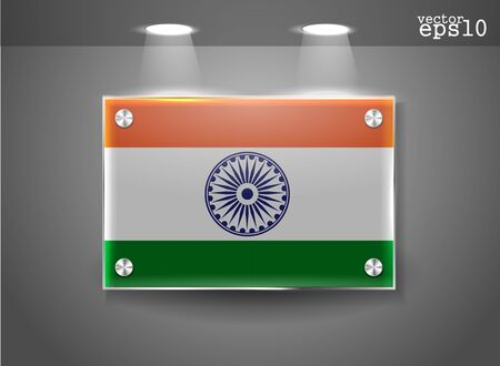 India flag banner with lighting effect, vector illustration  Vector