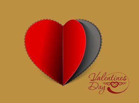 valentines day background, vector illustration.  Vector