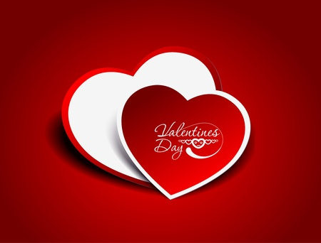 valentines day background, vector illustration.