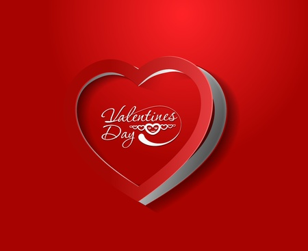 valentines day heart curl background, vector illustration.  Vector