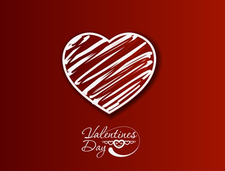 valentine's day background, vector illustration.  Vector