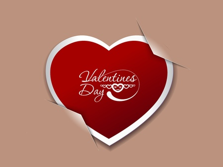 valentine's day background, vector illustration.  Stock Vector - 12125585