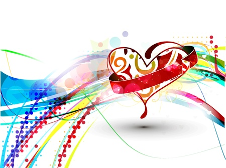 abstract valentines day background, vector illustration.  Vector