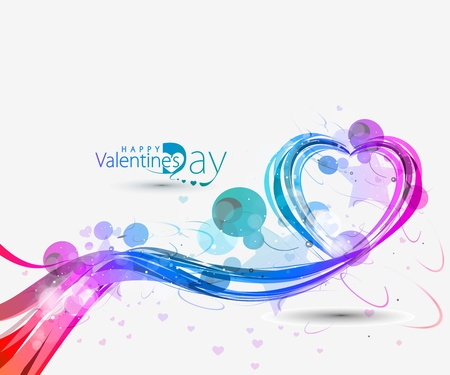 Abstract valentines day background with hearts, eps10 vector Vector