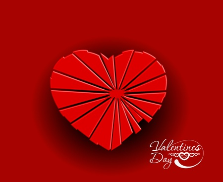 valentines day break heart background, vector illustration.  Vector