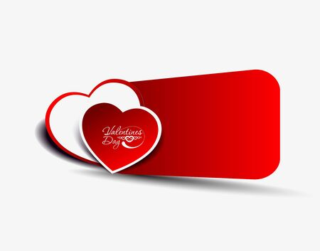 white day: abstract colors hearts banner, vector illustration. Illustration