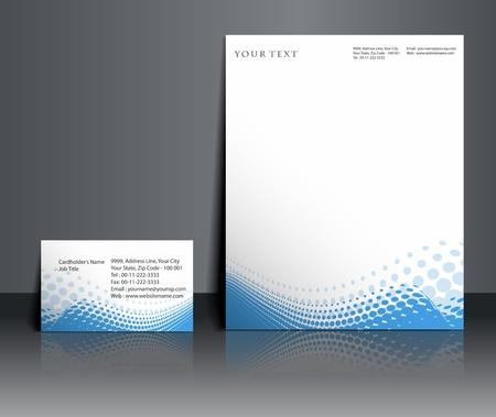 hojas membretadas: Plantillas de estilo para el diseño del proyecto, ilustración vectorial. Vectores