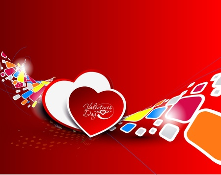 valentine's day, heart vector illustration.  Vector