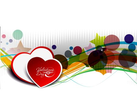 valentines day, heart vector illustration.  Vector