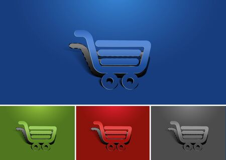 Set of vector web shopping icon design element.  Vector