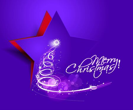 abstract christmas tree design for text project used. Vector