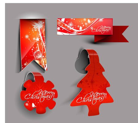 sticker design: Christmas colorful sticker design for text project used.