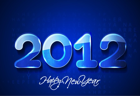 bytes: new year 2012 matrix style design, vector illustration Illustration