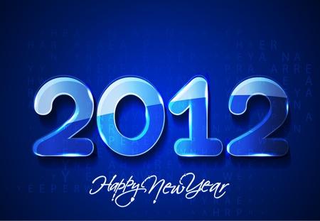 new year 2012 matrix style design, vector illustration Stock Vector - 12166798