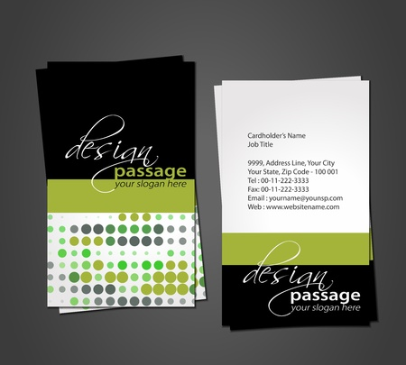 visiting card design: vector business card set, vector illustration. Illustration