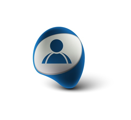 matrimonial: 3d vector user web icon design element.