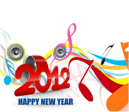 New year 2012 party poster design. Vector illustration  Vector