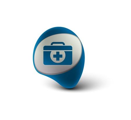 3d glossy medical web icon design, vector illustration Stock Vector - 12283571