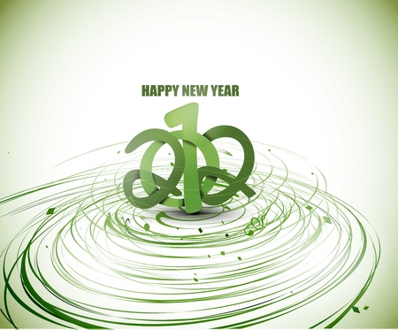 new year 2012 swirl wave background. Vector illustration Stock Vector - 12283643