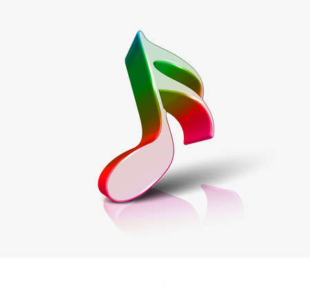rainbow music: Music notes for design use, vector illustration