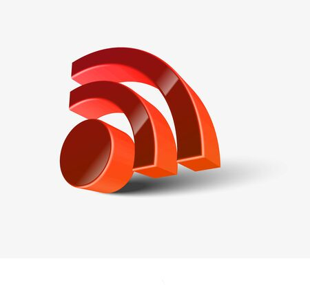 media event: rss icon isolated over white background. vector illustration