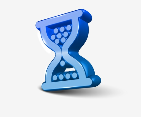 vector 3d glossy hourglass web icon design element.  Vector