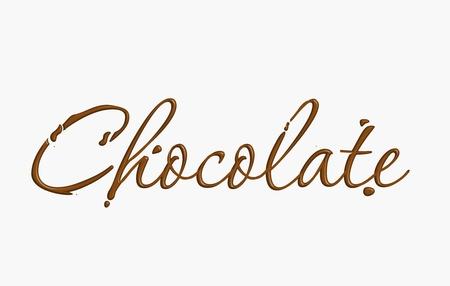 fondu: Chocolat texte en �l�ment de conception de chocolat vecteur.