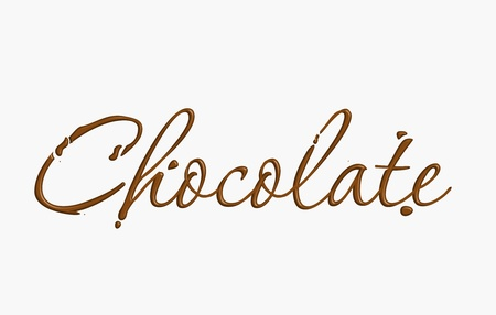 Chocolate text made of chocolate vector design element.
