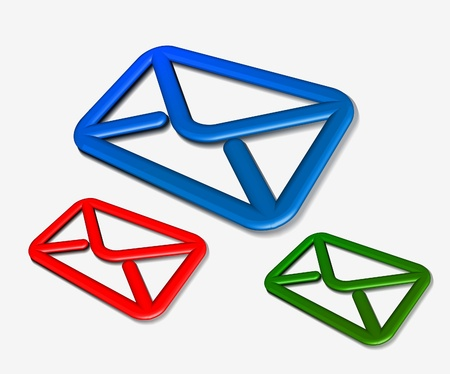 send email: vector email icon web design element.