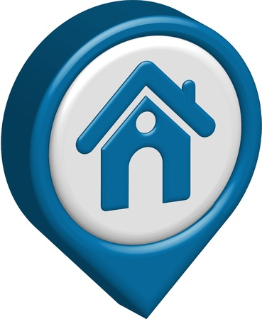 home button: 3d vector home icon design with isolated on white.