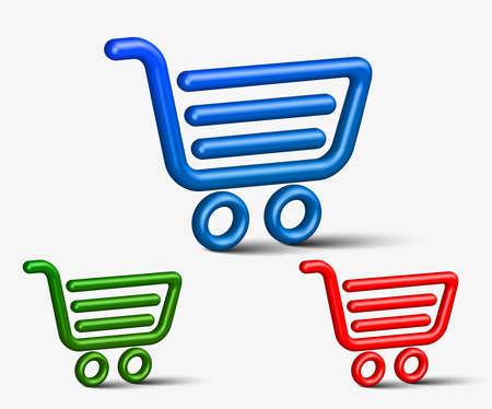 Set of vector web shopping icon design element.  Stock Vector - 12492100