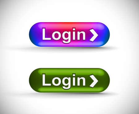 login button: web login icon, includes four versions for your web icon.  Illustration