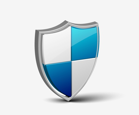 blue shield: vector shield icon for security icon element design use. Illustration