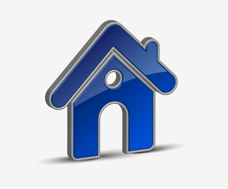 home security: 3d vector home icon design with isolated on white.