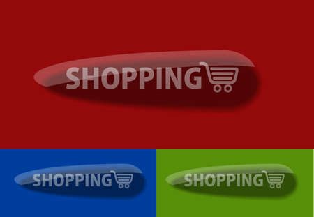 rectangle button: Set of vector web shopping icon design element. Illustration