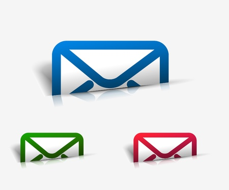mail marketing: vector email icon web design element.