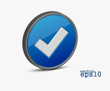 3d vector check mark vector icon design Stock Vector - 12491721