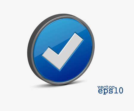 3d vector check mark vector icon design Stock Vector - 12491721
