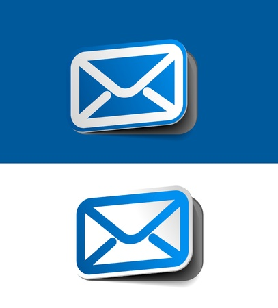 spam mail: vector email icon web design element.