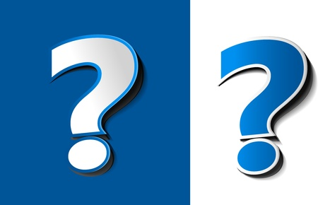 question icon: vector 3d question mark icon design Illustration